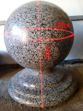 Гранитный шар покостовка большой