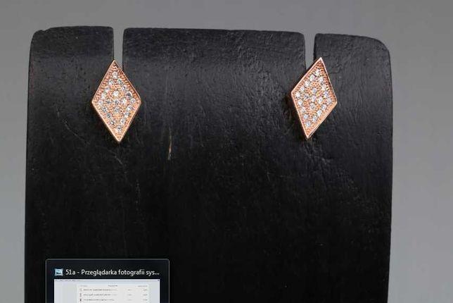 16) Kolczyki ze srebra złocone