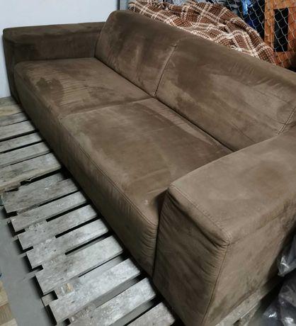 Kanapa sofa nierozkladana braz
