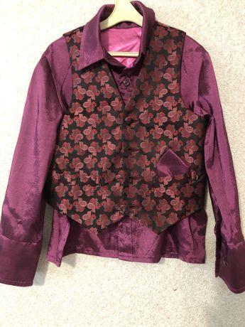 Рубашка с жилеткой 5-6 лет
