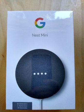 Google Nest Mini - inteligentny głośnik, asystent, Smart Home (nowy)