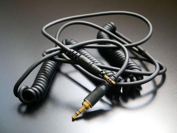 Audio-Technica kabel spiralny 1,2-3m z gwintem na adapter, słuchawki