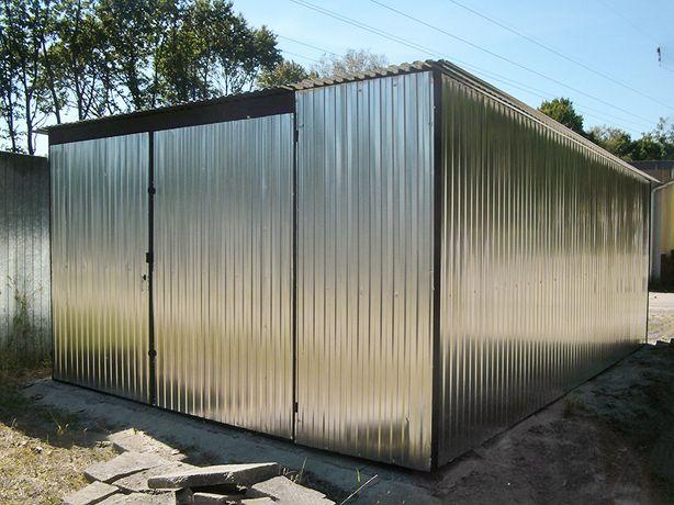 Garaż blaszany I GATUNEK blaszak 4x6 ocynkowany garaże wiaty producent