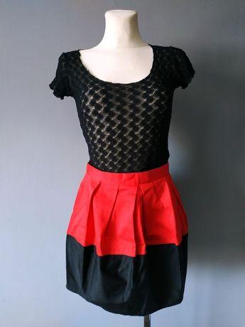 Czerwona spódnica mini - rozmiar 34/36