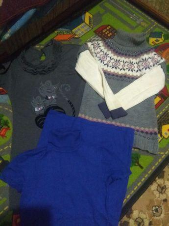 Тёплые платье, туника, свитер, вещи женские , S-M