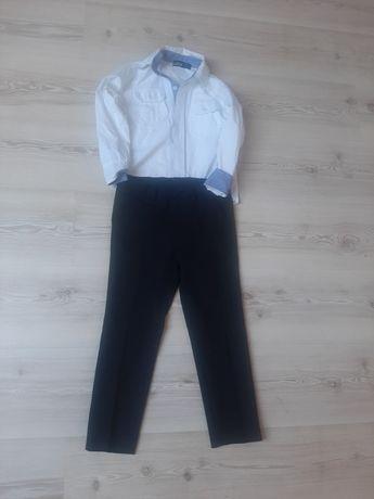 Komplet koszula i czarne spodnie na kant roz 116