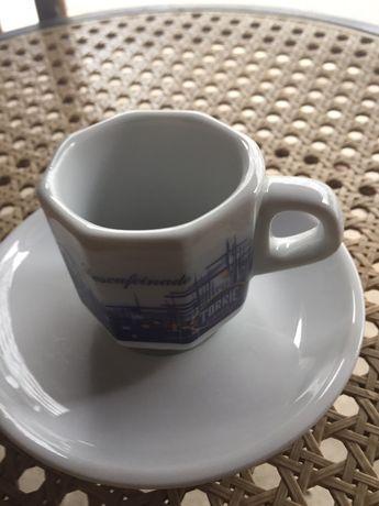 Chavena de cafe azul