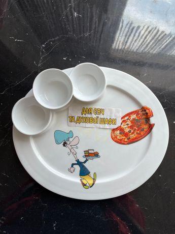 Тарелка для пиццы и суш