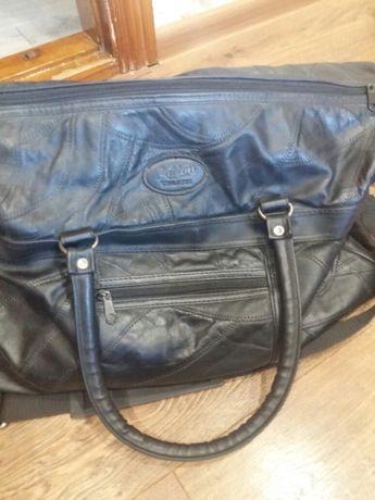 Дорожная сумка в идеальном состоянии кожа