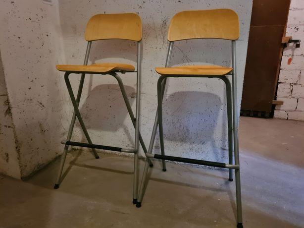 Krzesła barowe hokery składane Ikea Franklin