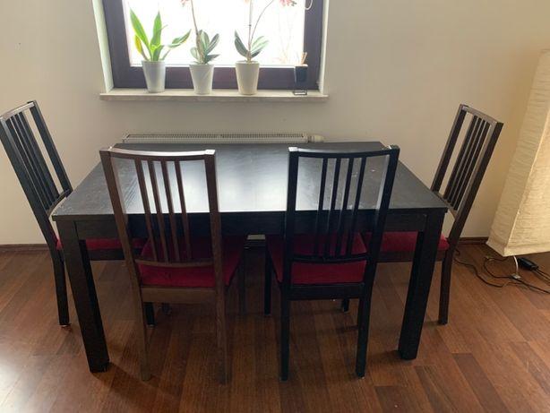 stół rozkładany z 4 krzesłami
