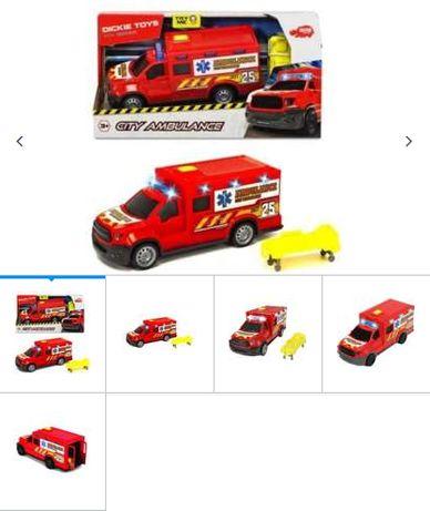 Nowa karetka pogotowia Dickie Toys ambulans światło dźwięk