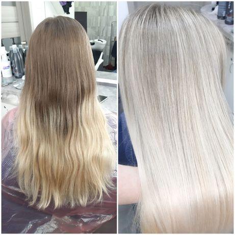Наращивание и окрашивание волос. Стрижки.Коллагенопластия,биксипластия