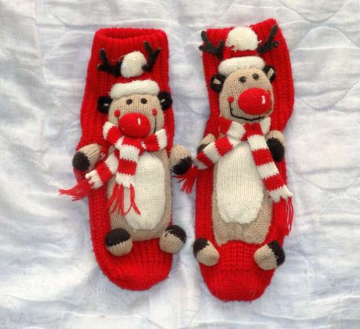 Skarpetki świąteczne Mikołaj zamiast kapcie