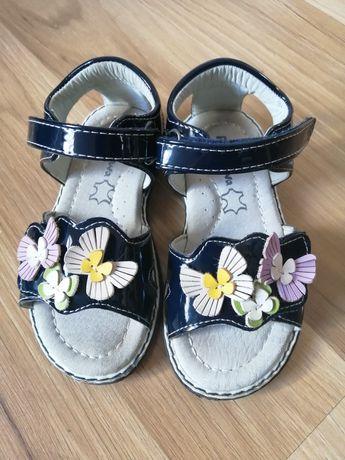 Sandały skórzane dla bliźniaczek dziewczynki rozm. 24