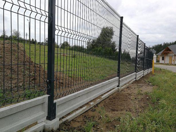 Ogrodzenie Panelowe Fi 4 150cm+20cm Ocynk+RAL Kompletny metr bieżąc