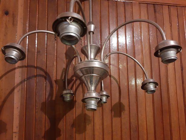Zabytkowy stelaż żyrandol vintage retro lampa loft