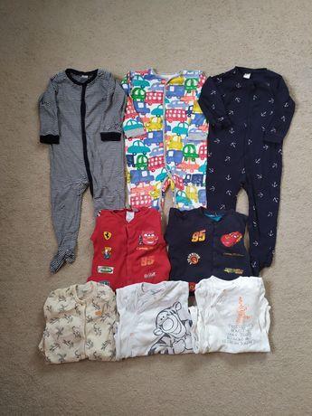 Zestaw 92 pajacyki piżamka rampers next Hm Disney zygzak McQueen