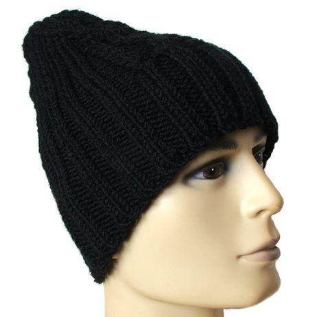 Męska czapka zimowa - rękodzieło