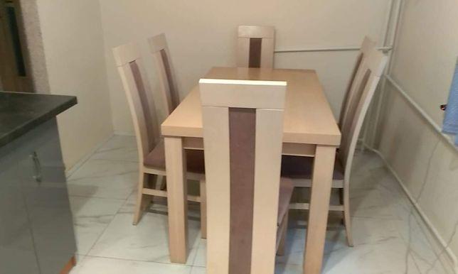Stół z krzesłami 140x90 (180x90/220x90) x 6 krzeseł