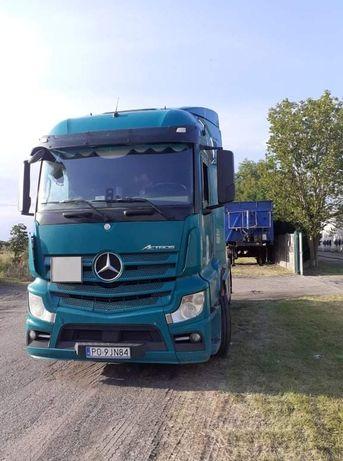 Mercedes actros mp4 plus naczepa inter cars 45m3