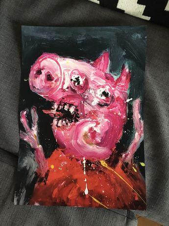 Plakat A3 creepy pepa