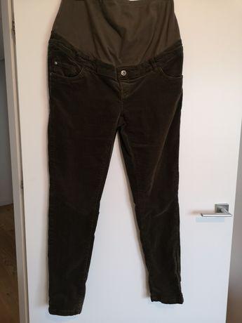 Spodnie ciążowe sztruksy zielone 42 C&A
