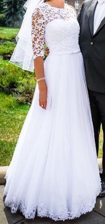 Piękna suknia ślubna Desidejna 34/36