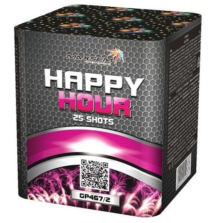 Фейерверк Maxsem Happy Hour 25 зарядный 20мм салюты піротехніка