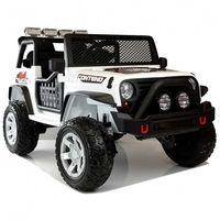 Carro Elétrico Jeep Rough Speed 4x4 12V Bateria c/ Comando Branco