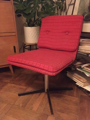 Fotel obrotowy PRL krzesło