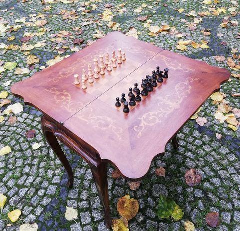 szachy drewno stół szachowy
