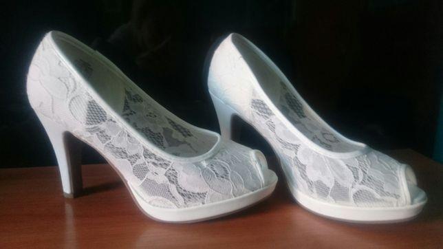 Buty białe koronkowe rozmiar 37