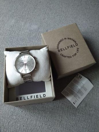 Bellfield - srebrny zegarek damski, nowy