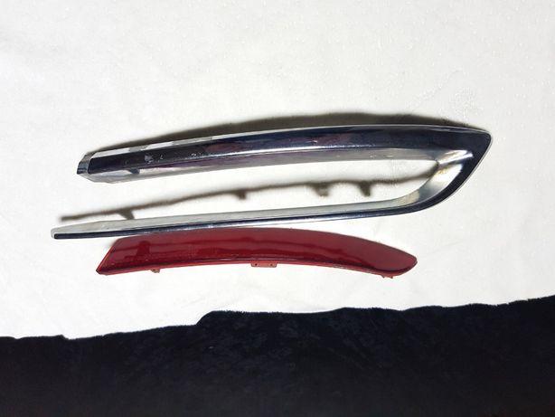 Молдинг БМВ бампер задний BMW F10 Luxury Line защитная планка