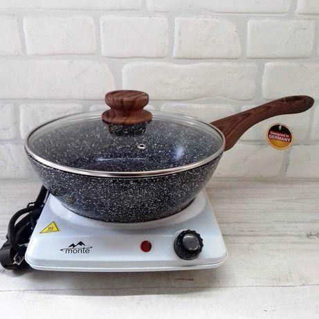 Глубокая сковорода, сковородка с мраморным покрытием Edenberg EB-5662