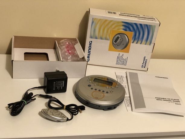 Grundig Discman CD + Radio FM Walkman Planixx zestaw