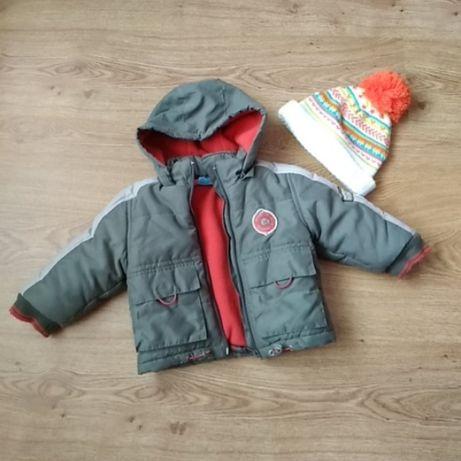 Куртка + шапка (новая) Pumpkin Patch 6-12 мес. зимняя деми