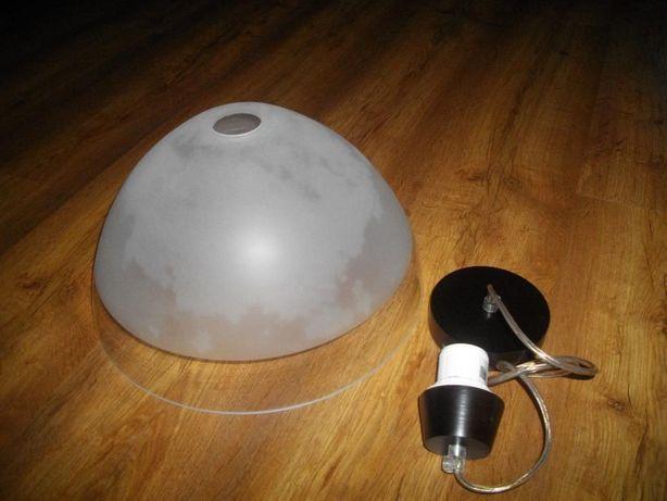 Lampa szklana wisząca nowa
