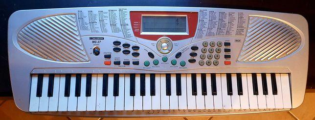 Keyboard z ekranem, MIDI, do nauki, uszkodzony