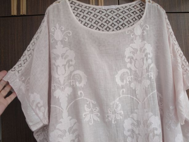 Освобождаю шкафы. Блузка цвета пудры большого размера. Италия.