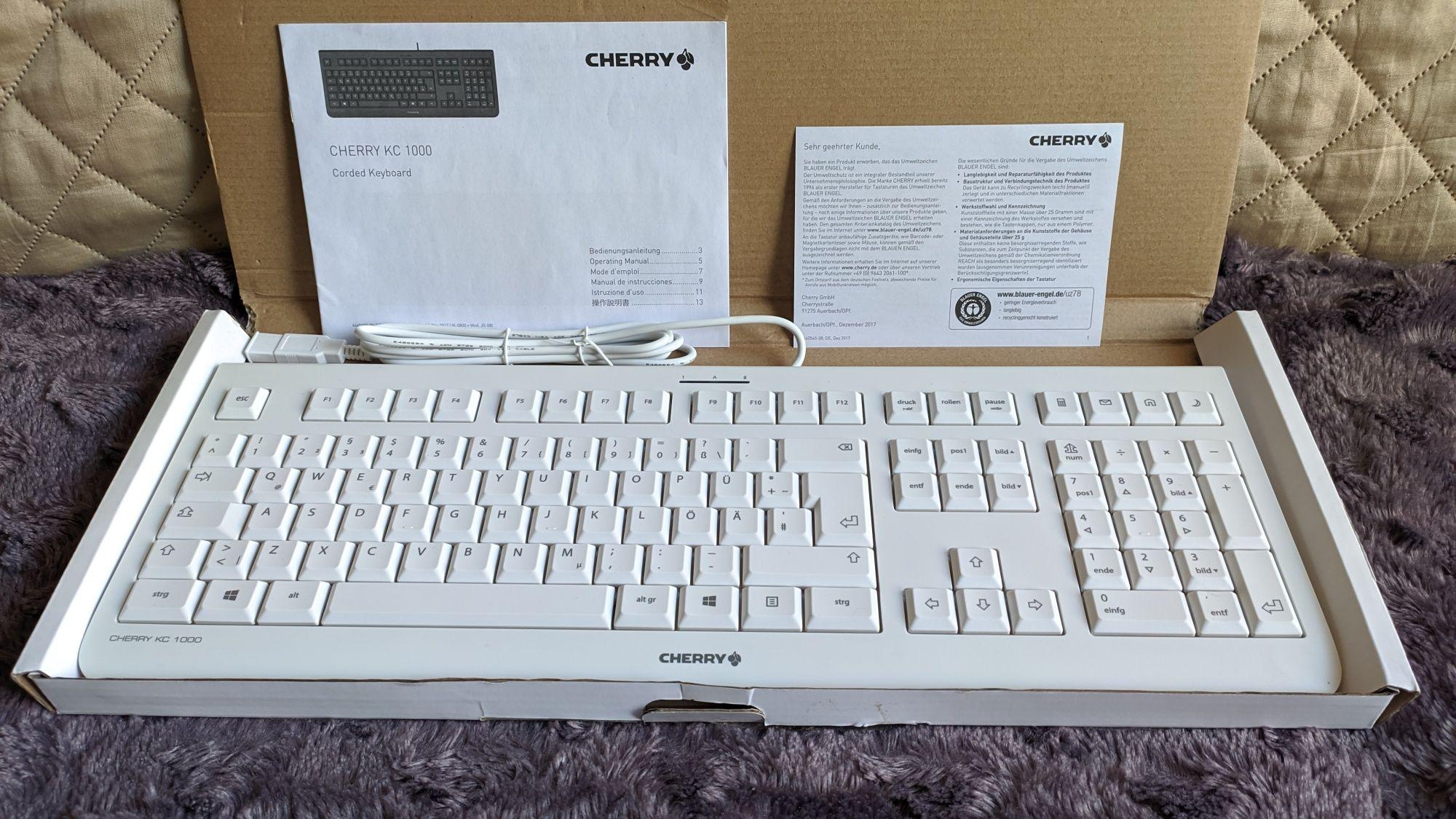 Klawiatura Cherry KC1000 (JK-A0100EU-0) biała QWERTY
