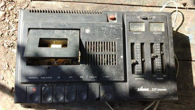 """Кассетный стереофонический магнитофон """"Вильма-311-стерео"""" 1985 г.в."""