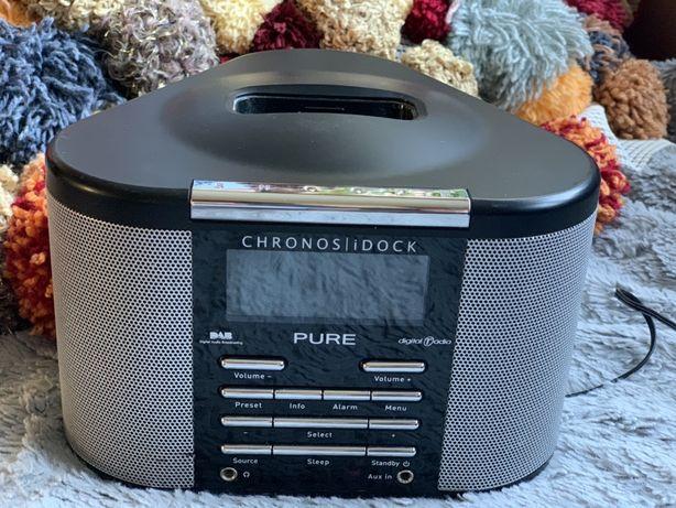 Pure chronos dock radio budzik odtwarzacz muzyki ipod