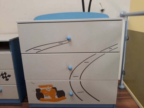 komoda meblik trzy szuflady formuła, pokój dla chłopca, rabat, gratis