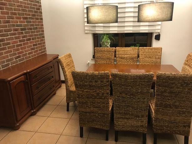 Komplet do salonu, komoda, stół, krzesła