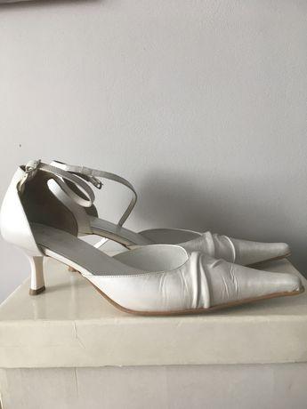 Buty slubne r39 wloskie skóra Arte di roma