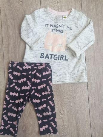 Dres bluza spodnie leginsy Batman Batgirl h&m rozmiar 74