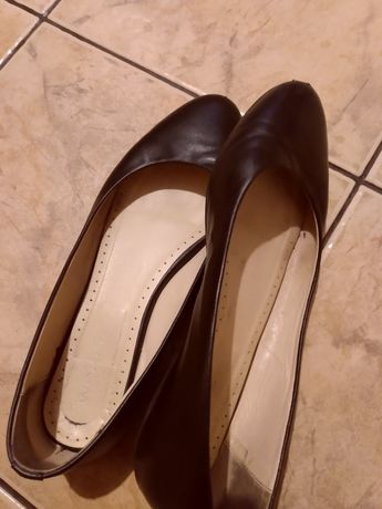 Baleriny Wojas buty skora