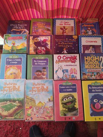 Lote de 16 DVD de filmes de criança, originais